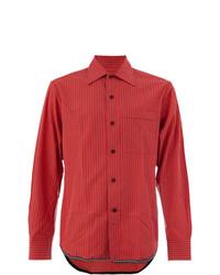Camisa de vestir de rayas verticales roja de Lanvin