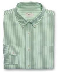 Camisa de vestir de rayas verticales verde