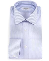 Camisa de vestir de rayas verticales violeta claro de Charvet