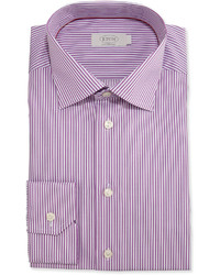 Camisa de vestir de rayas verticales violeta claro de Eton