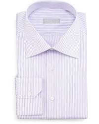 Camisa de vestir de rayas verticales violeta claro de Stefano Ricci