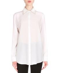 Camisa de vestir de seda blanca de Givenchy
