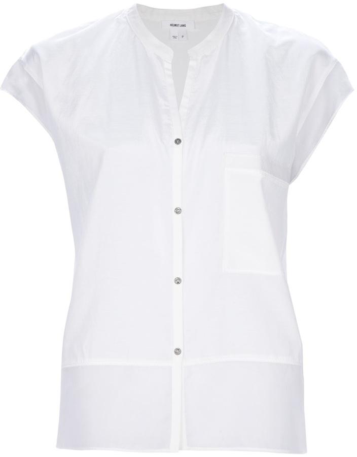 Camisa de vestir de seda blanca de Helmut Lang