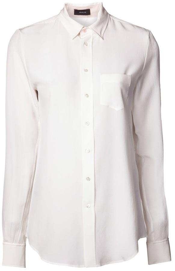 Camisa de vestir de seda blanca de Joseph