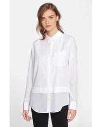 Camisa de vestir de seda blanca de Vince