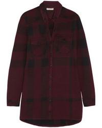 Camisa de vestir de tartán burdeos de Burberry