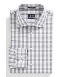 Camisa de vestir de tartán gris de 1901