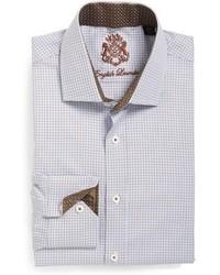 Camisa de vestir de tartán gris de English Laundry