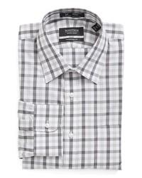 Camisa de vestir de tartán gris de Nordstrom