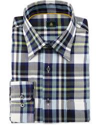 Camisa de vestir de tartán gris de Robert Talbott
