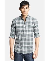 Camisa de vestir de tartán gris de Steven Alan