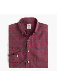 Camisa de vestir de tartán roja de J.Crew