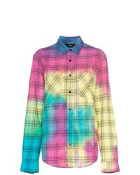 Camisa de vestir efecto teñido anudado en multicolor