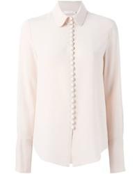 Camisa de vestir en beige de Chloé