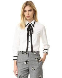 Camisa de vestir en blanco y negro de Marc Jacobs