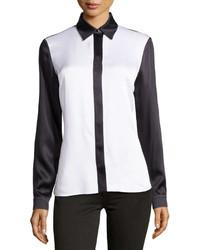 Camisa de vestir en blanco y negro de Michael Kors