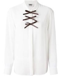 Camisa de vestir en blanco y negro de Sonia Rykiel