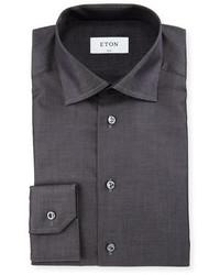 Camisa de vestir en gris oscuro de Eton