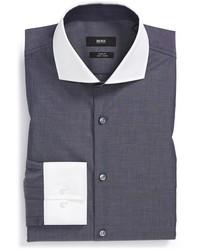 Camisa de vestir en gris oscuro de Hugo Boss