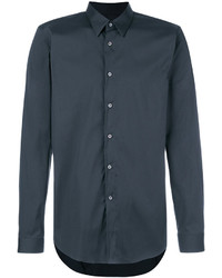 Camisa de vestir en gris oscuro de Jil Sander