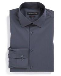 Camisa de vestir en gris oscuro de John Varvatos