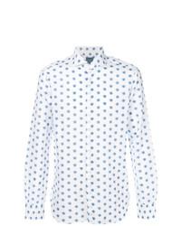 Camisa de vestir estampada blanca de Barba
