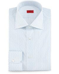 Camisa de vestir estampada blanca de Isaia