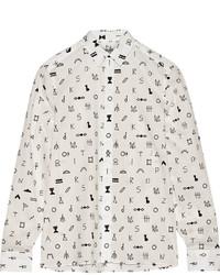 Camisa de Vestir Estampada Blanca de Kenzo