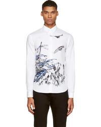Camisa de vestir estampada blanca de McQ
