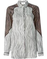 Camisa de vestir estampada en blanco y negro de 3.1 Phillip Lim