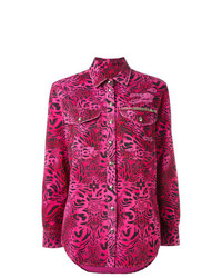 Camisa de vestir estampada rosa de Philipp Plein