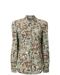 Camisa de vestir estampada verde oliva de Chloé