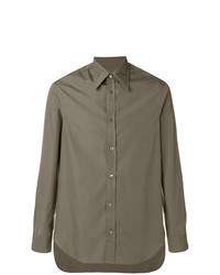 Camisa de vestir marrón de Maison Margiela