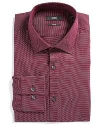 Camisa de vestir morado de BOSS