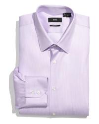 Camisa de vestir morado de Hugo Boss