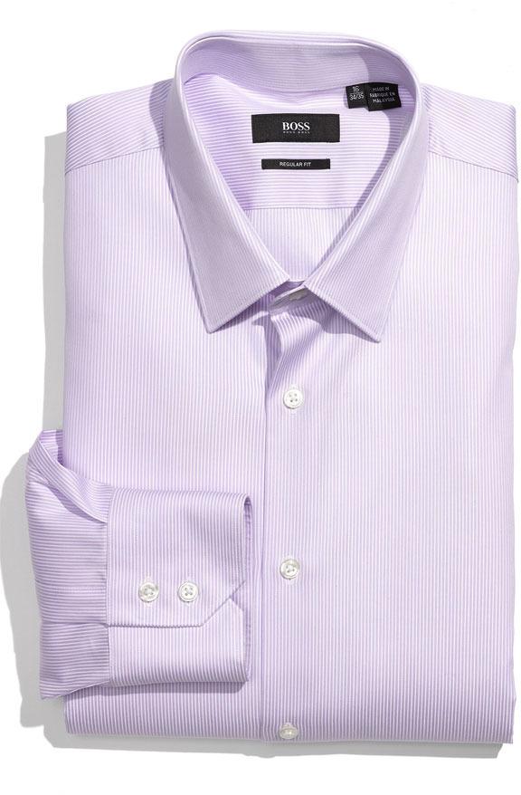 0f7ca07e17c ... Camisa de vestir morado de Hugo Boss ...