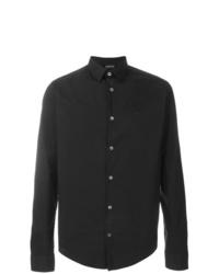 Camisa de vestir negra de Emporio Armani