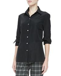 Camisa de vestir negra de Michael Kors