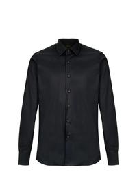 Camisa de vestir negra de Prada