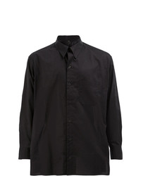Camisa de vestir negra de Yohji Yamamoto