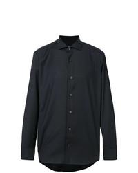 Camisa de vestir negra de Z Zegna