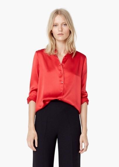 de Outlet Camisa Vestir de Roja Mango q76qW81ZH