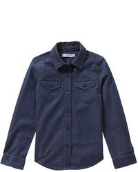 Camisa de vestir vaquera azul marino