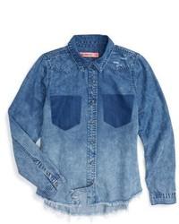 Camisa de vestir vaquera azul de Blank NYC
