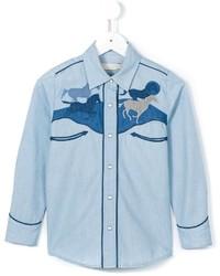 Camisa de vestir vaquera celeste de Stella McCartney