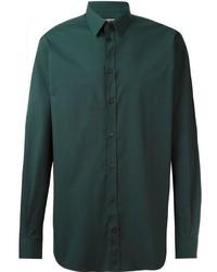 Camisa de vestir verde oscuro