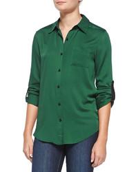 ce7992e2f Comprar una camisa verde oscuro de Neiman Marcus  elegir camisas ...