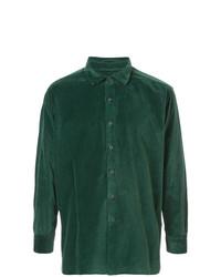 Camisa de vestir verde oscuro de Casey Casey