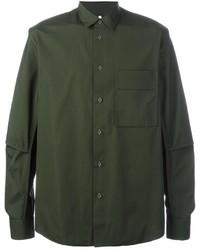 Camisa de vestir verde oscuro de Oamc