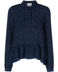Camisa estampada azul marino de Twin-Set